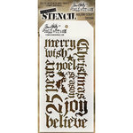 Stampers Anonymous - Tim Holtz - Christmas - Layering Stencil - Holiday Script