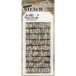 Stampers Anonymous - Tim Holtz - Layering Stencil - Concerto