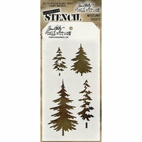 Stampers Anonymous - Tim Holtz - Layering Stencil - Woodland