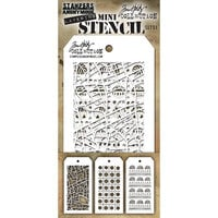 Stampers Anonymous - Tim Holtz - Mini Stencil Set Number 51