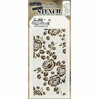 Stampers Anonymous - Tim Holtz - Layering Stencil - Roses