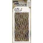Stampers Anonymous - Tim Holtz - Layering Stencil - Feather