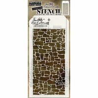 Stampers Anonymous - Tim Holtz - Layering Stencil - Stone