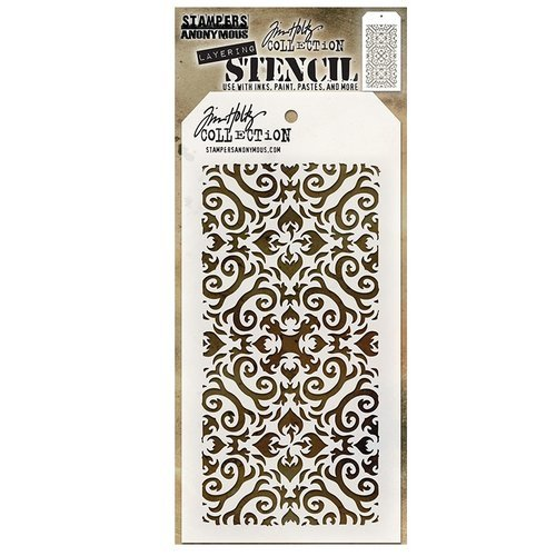 Stampers Anonymous - Tim Holtz - Layering Stencil - Flames