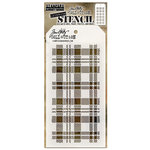 Stampers Anonymous - Tim Holtz - Christmas - Layering Stencil - Plaid