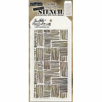 Stampers Anonymous - Tim Holtz - Layering Stencil - Thatched