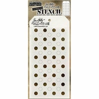 Stampers Anonymous - Tim Holtz - Layering Stencil - Shifter Dots