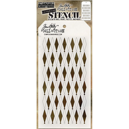 Stampers Anonymous - Tim Holtz - Layering Stencil - Shifter Diamonds