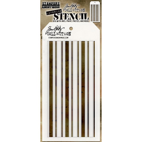 Stampers Anonymous - Tim Holtz - Christmas - Layering Stencil - Shifter Mint