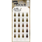 Stampers Anonymous - Tim Holtz - Christmas - Layering Stencil - Shifter Tree