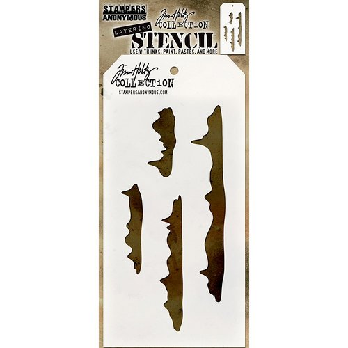 Stampers Anonymous - Tim Holtz - Christmas - Layering Stencil - Snowcap