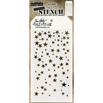 Stampers Anonymous - Tim Holtz - Christmas - Layering Stencil - Falling Stars