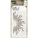 Stampers Anonymous - Tim Holtz - Christmas - Layering Stencil - Burst