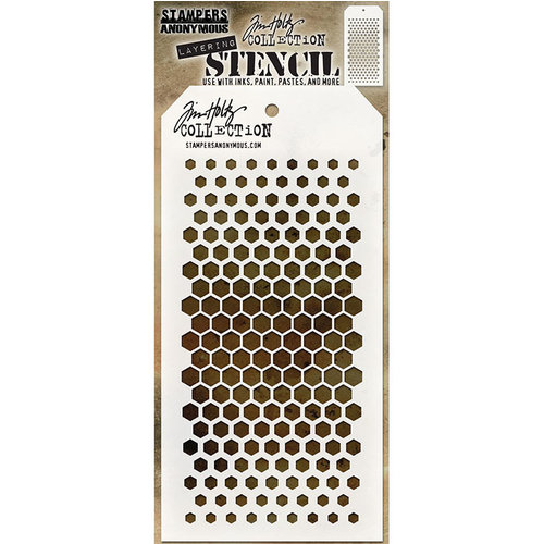 Stampers Anonymous - Tim Holtz - Layering Stencil - Gradient Hex