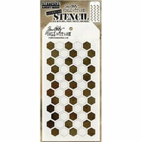Stampers Anonymous - Tim Holtz - Layering Stencil - Shifter Hex