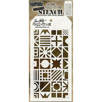 Stampers Anonymous - Tim Holtz - Layering Stencil - Patchwork Cube
