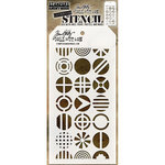 Stampers Anonymous - Tim Holtz - Layering Stencil - Patchwork Circle