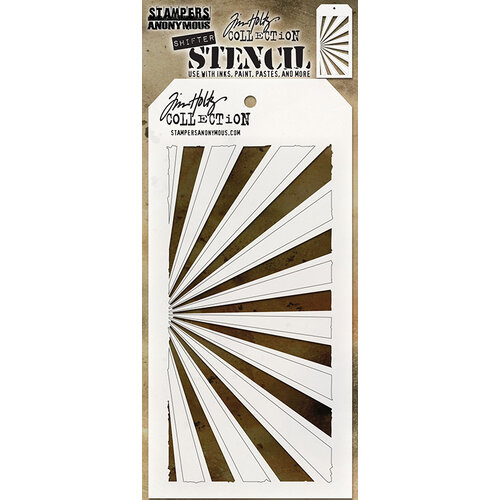 Stampers Anonymous - Tim Holtz - Layering Stencil - Shifter Rays