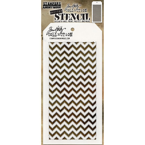 Stampers Anonymous - Tim Holtz - Layering Stencil - Shifter Chevron