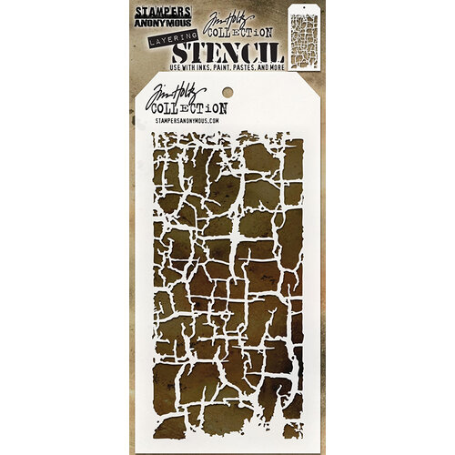 Stampers Anonymous - Tim Holtz - Layering Stencil - Decayed