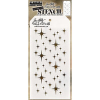 Stampers Anonymous - Christmas - Tim Holtz - Layering Stencil - Sparkle