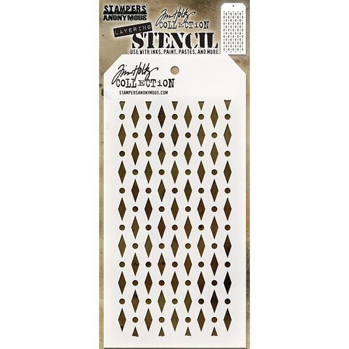 Stampers Anonymous - Christmas - Tim Holtz - Layering Stencil - Diamond Dot
