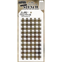 Stampers Anonymous - Christmas - Tim Holtz - Layering Stencil - Gingham