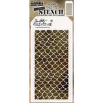 Stampers Anonymous - Tim Holtz - Layering Stencil - Scales