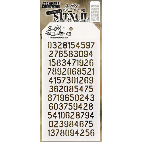 Stampers Anonymous - Tim Holtz - Layering Stencil - Digits