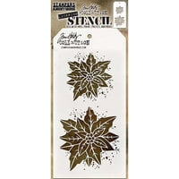 Stampers Anonymous - Tim Holtz - Layering Stencil - Christmas - Poinsettia Duo