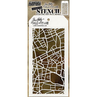 Stampers Anonymous - Tim Holtz - Layering Stencil - Metropolis