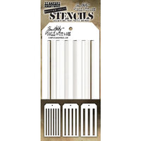 Stampers Anonymous - Tim Holtz - Christmas - Layering Stencils - Shifter Multi Stripes