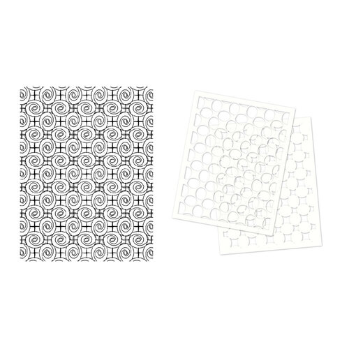 Stampers Anonymous - Cling Mounted Rubber Stamp Set - Roses Background