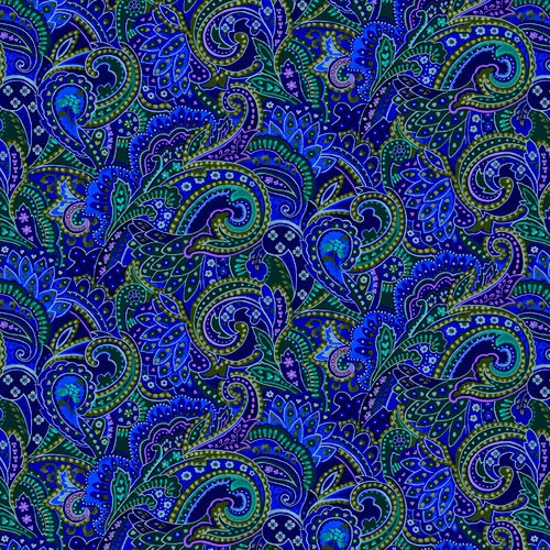 SugarTree - 12 x 12 Paper - Blue Paisley