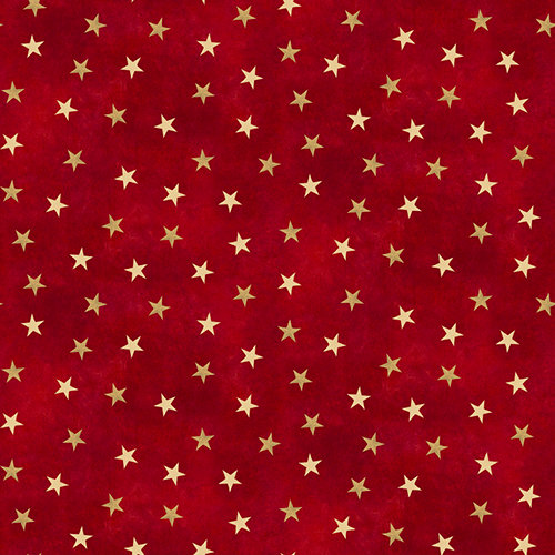 SugarTree - 12 x 12 Paper - Red and Gold Stars