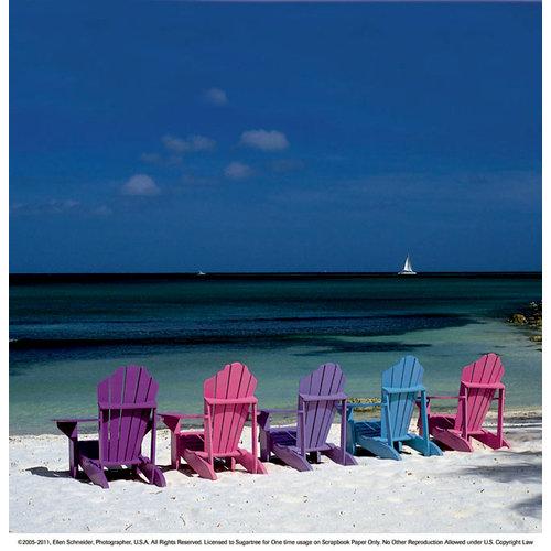 SugarTree - 12 x 12 Paper - Shoreline Beach Chairs