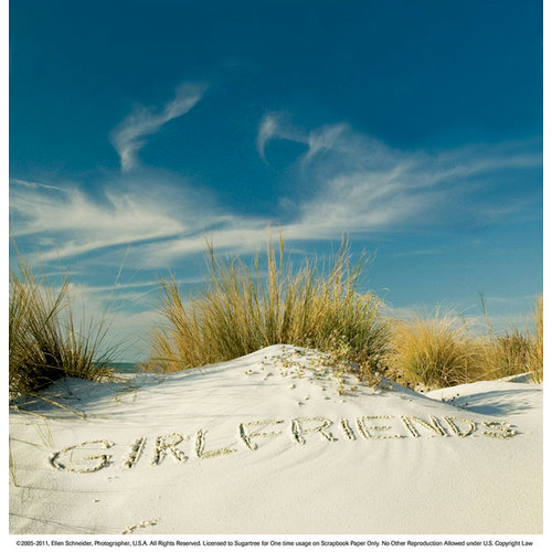 SugarTree - 12 x 12 Paper - Girlfriends Sand Script