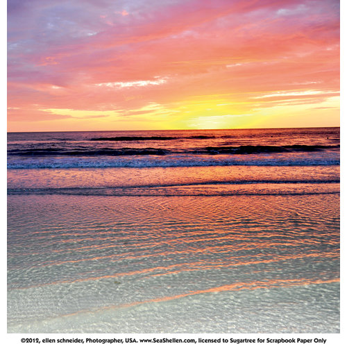 SugarTree - 12 x 12 Paper - Beach Sunset