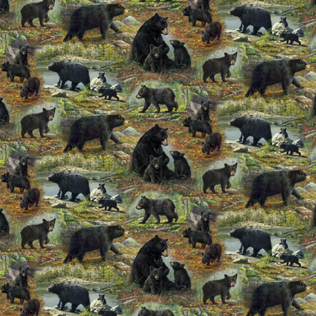 SugarTree - 12 x 12 Paper - Black Bears and Cubs