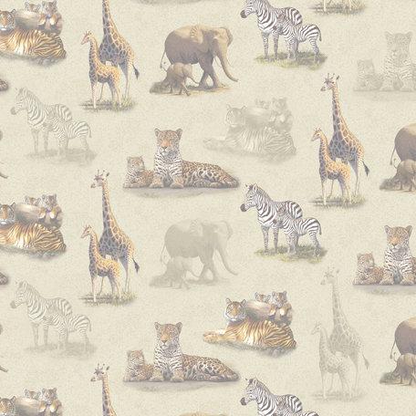 SugarTree - 12 x 12 Paper - Wild African Big Game