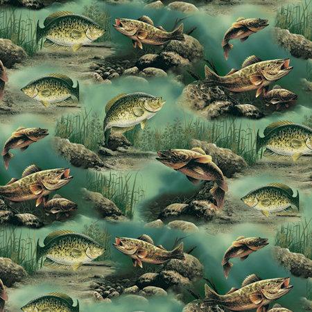 SugarTree - 12 x 12 Paper - Multi-Lake Fish