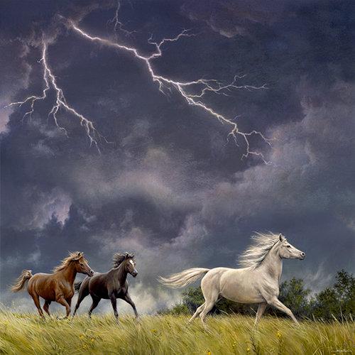 SugarTree - 12 x 12 Paper - Horses Lightening