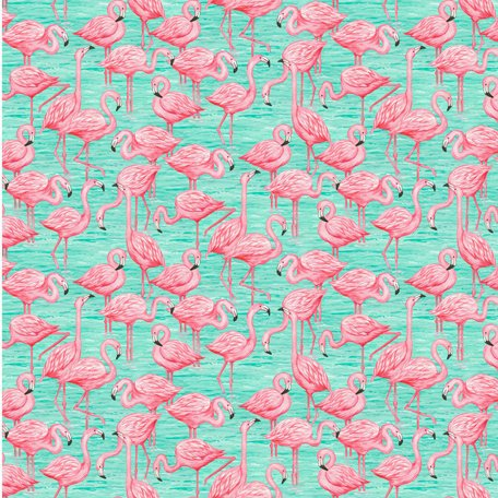 SugarTree - 12 x 12 Paper - All Over Flamingos