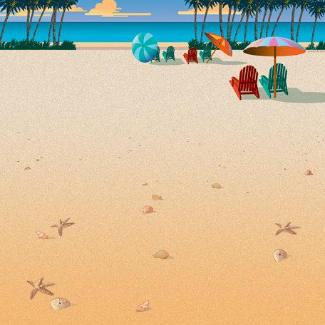 SugarTree - 12 x 12 Paper - Beach Chairs