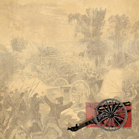 SugarTree - 12 x 12 Paper - Civil War Cannon