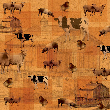 SugarTree - 12 x 12 Paper - Farm Animals