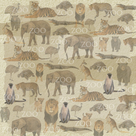SugarTree - 12 x 12 Paper - Zoo