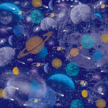 SugarTree - 12 x 12 Paper - Stars and Planets
