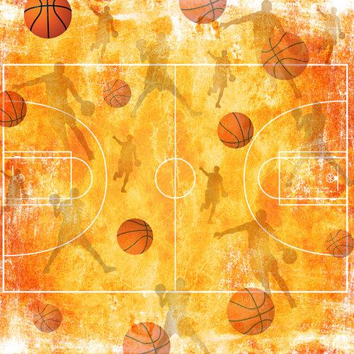 SugarTree - 12 x 12 Paper - Basketball