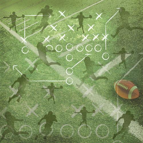 SugarTree - 12 x 12 Paper - Football